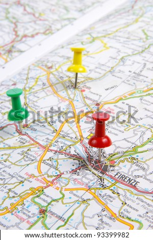 road map - stock photo