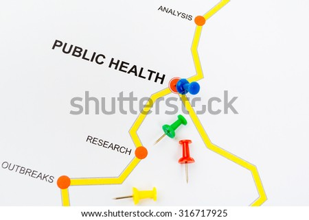 Road map to health concept - stock photo