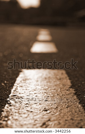 road marking line - stock photo