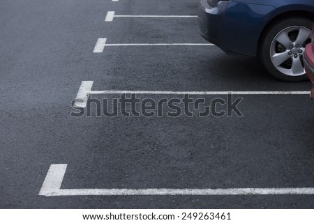 road marking parking - stock photo