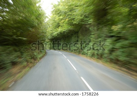Road/motion blur - stock photo