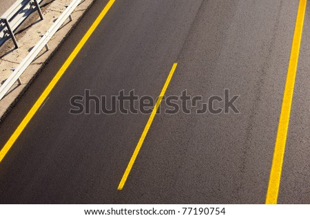 Road of a new autobahn - stock photo