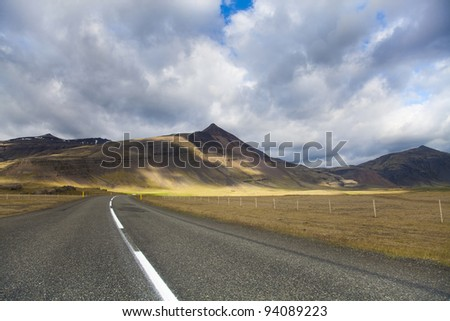Road on Iceland - stock photo