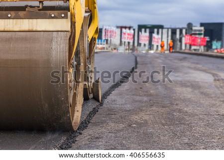 road paving - stock photo