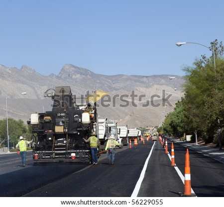 Road paving construction