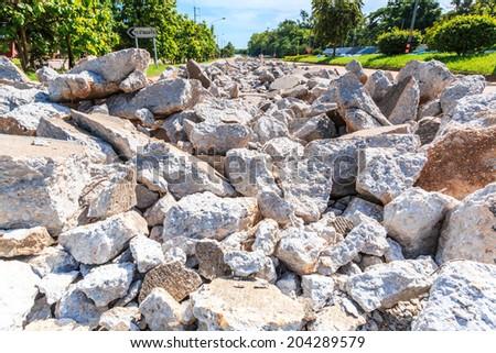 Road repairing works  - stock photo