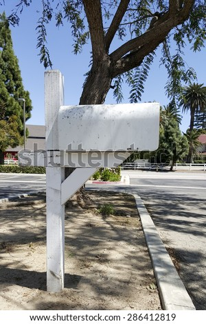 Road side home owner US Postal Service mail box, Camarillo, CA - stock photo
