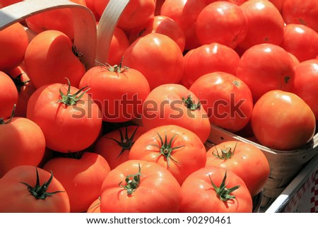 Road side stand Tomatoes - stock photo