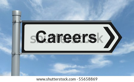 Road Sign - Careers