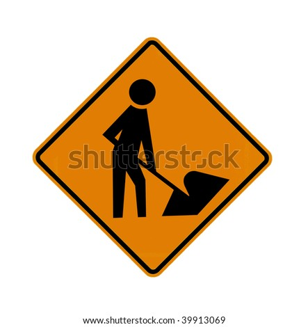 road worker sign
