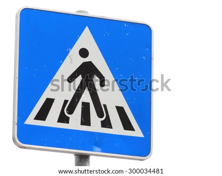 Road sign for pedestrians - stock photo