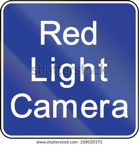 Road sign in Brunei: Red light camera