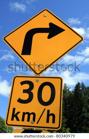 Road Sign in Canada - stock photo