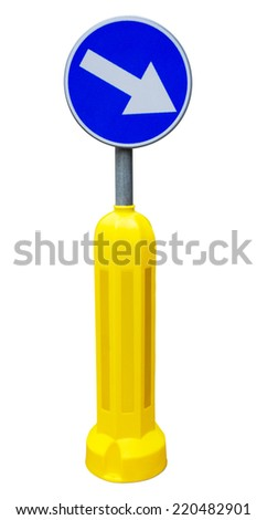 Road sign isolated. Clipping path included.