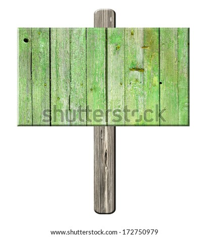 road sign isolated on a white background
