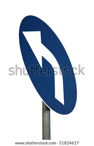 road sign isolated on white background