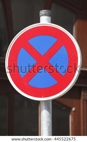 Road  Sign No Parking, Germany, Europe