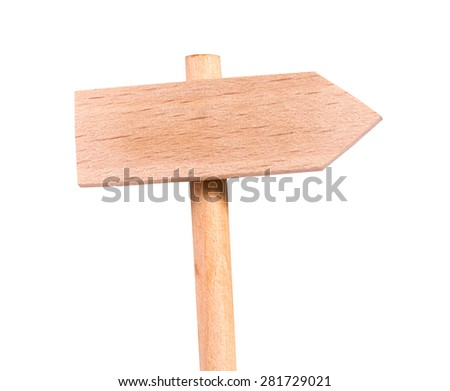 road sign signpost wood one direction - stock photo