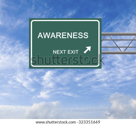 Road Sign to awareness
