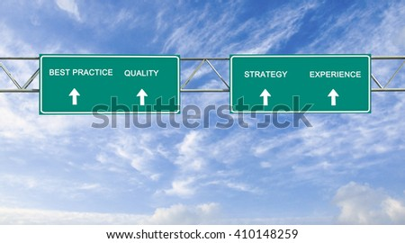 Road sign to best practices