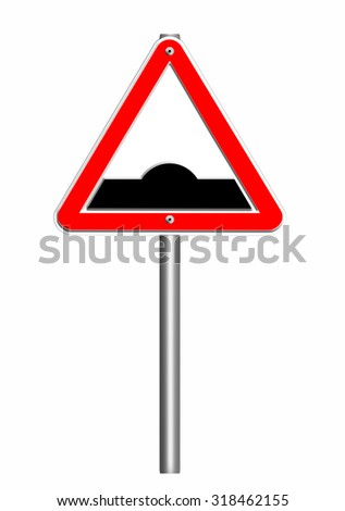road sign triangle, hump or rough