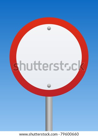 Road Sign - Warning - stock photo