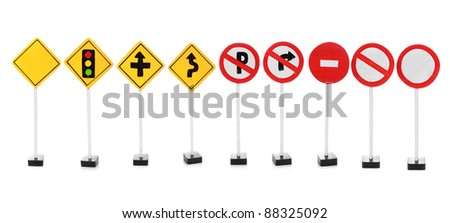 road sign with empty space for your design isolated on white background - stock photo