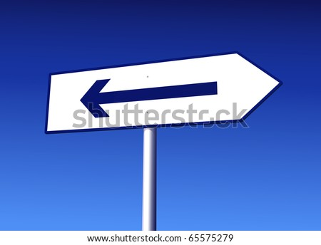 Road Sign with Mistake - stock photo