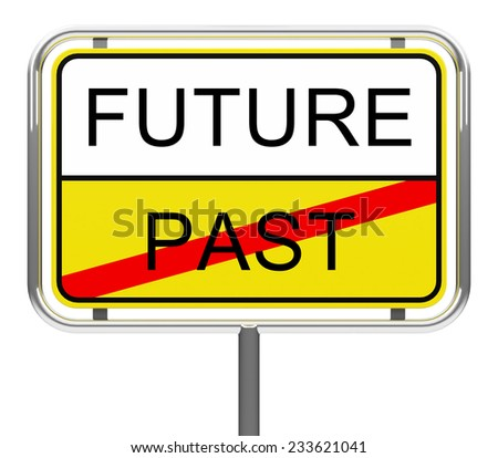 road sign with the words future and past - stock photo