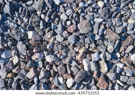 Road stone gravel for texture or background - stock photo