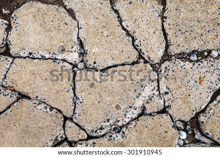 road surface crack