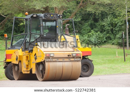 Road Surfacing Machines Road highway surfacing  construction machines asphalt tarring machines.