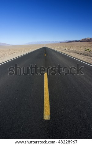 Road through Death Valley - stock photo