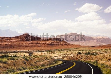 Road Through Glen Canyon National Recreation Area