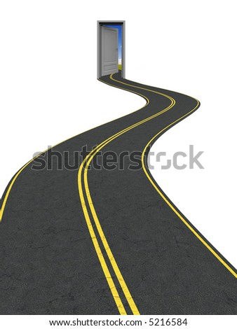 Road to another reality, world, success, opportunities and etc. - stock photo
