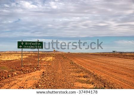 Road to Birdsville - stock photo