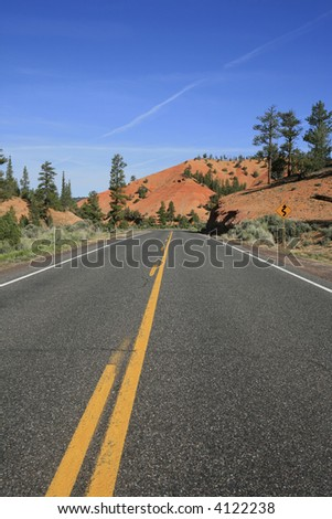 Road to Bryce Canyon National Park