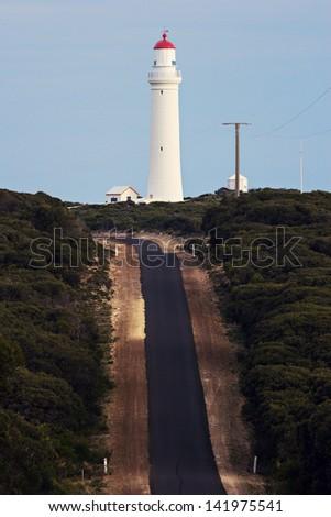 Road to Cape Nelson Lighthouse - Victoria, Australia - stock photo