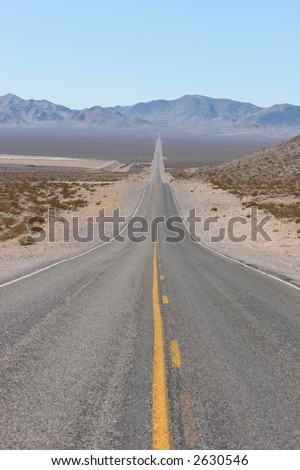 Road to Death Valley - stock photo