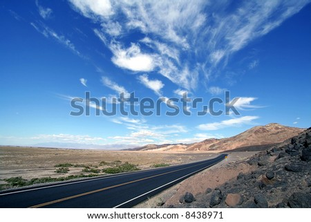 Road to Death Valley, California - stock photo