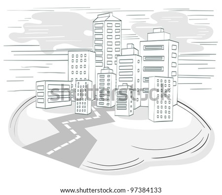 Road to Downtown At the Seaside - stock photo