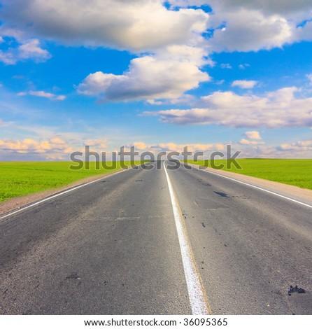 road to eternity - stock photo