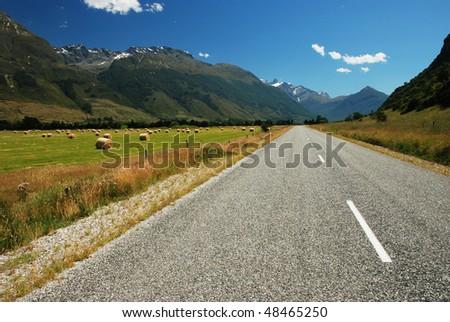 Road to Glenorchy, New Zealand - stock photo