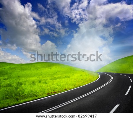 Road to heaven - stock photo