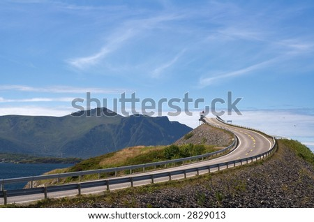 Road to heaven - view at Atlantic Road (Norway)