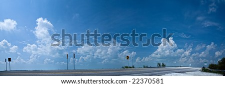 Road to Key West in Florida, USA. - stock photo