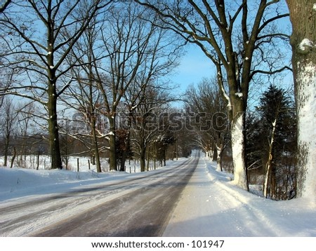 Road to Middleville, Michigan - stock photo
