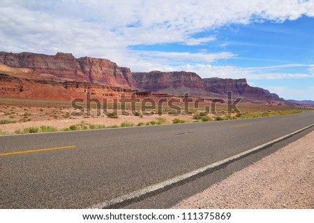 Road to Monument Valley, Utah, USA - stock photo