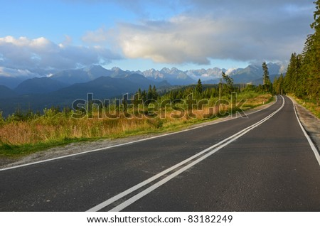 Road to Morskie Oko in Polish High Tatra Mountains