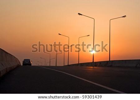 road to nowhere - stock photo